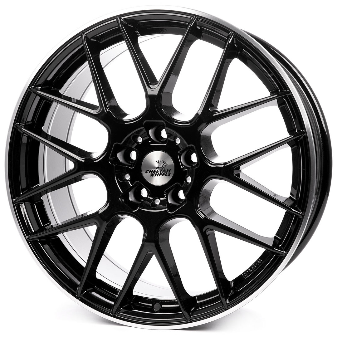 Cheetah Wheels CV3 black horn polished