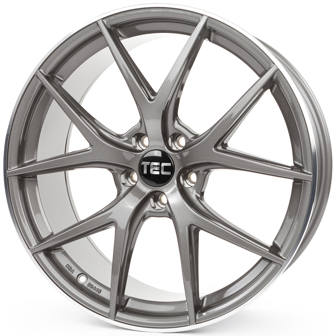 Tec Speedwheels GT-6 Anthrazit-Glanz-Hornpoliert