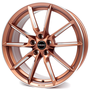 copper matt spoke rim polished