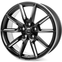 black matt silver spoke rim