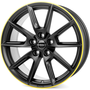 black matt rim yellow