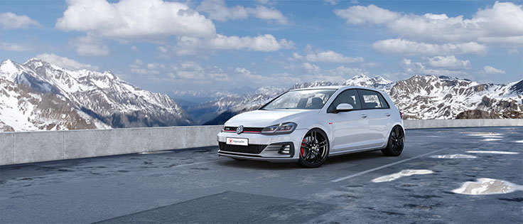 R3 Wheels R3H1 Black | Volkswagen Golf VII GTI